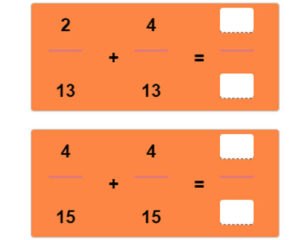 Key Stage Two Adding Fractions with Like Denominators Worksheet 16