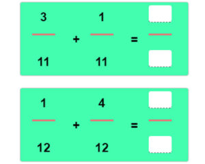 Key Stage Two Adding Fractions with Like Denominators Worksheet 17