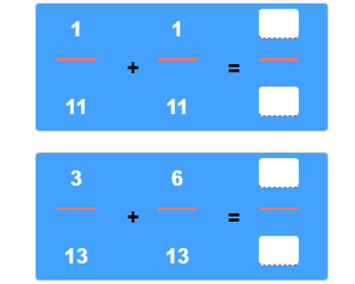 Adding Fractions with Like Denominators Worksheet 19 Adding Fractions with Like Denominators Worksheet 19