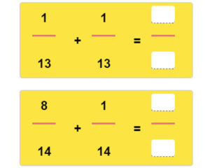 Key Stage Two Adding Fractions with Like Denominators Worksheet 20