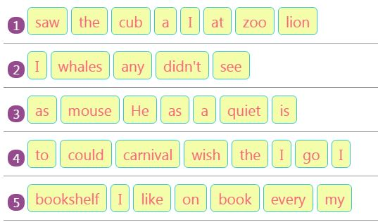 Rearranging Jumbled Words to Make Sentences Activity 19 ...