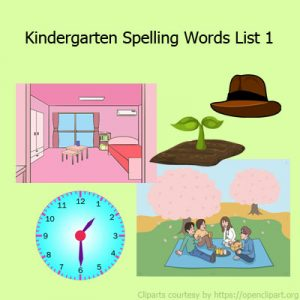 Kindergarten Spelling Words List 1 Kindergarten Spelling Words List 1