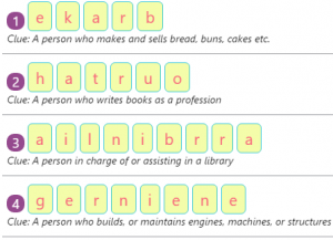 Key Stage One Workers of the Community – Spellings by Rearranging Jumbled Letters – 2