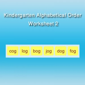 Kindergarten Alphabetical Order Worksheet 2