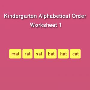 Kindergarten Alphabetical Order Worksheet 1 Kindergarten Alphabetical Order Worksheet 1