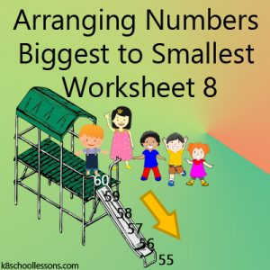 Arranging Numbers Biggest to Smallest Worksheet 8 Arranging Numbers Biggest to Smallest Worksheet 8