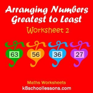 Arranging Numbers Greatest to Least Worksheet 2 Arranging Numbers Greatest to Least Worksheet 2