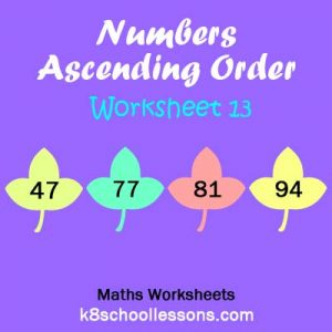 Numbers Ascending Order Worksheet 13 Numbers Ascending Order Worksheet 13