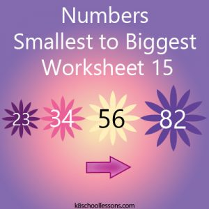Numbers Smallest to Largest Worksheet 15 Numbers Smallest to Largest Worksheet 15