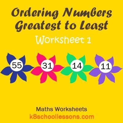 Ordering Numbers Greatest to Least Worksheet 1