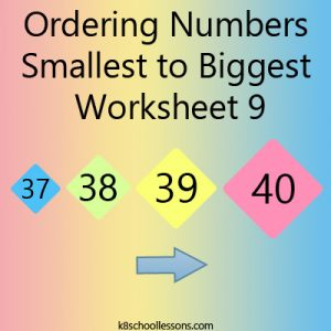 Ordering Numbers Smallest to Biggest Worksheet 9 Ordering Numbers Smallest to Biggest Worksheet 9