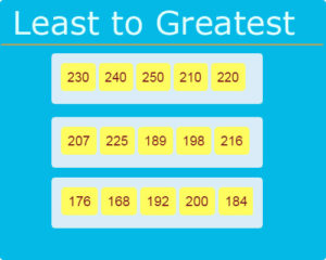Least to Greatest Numbers Worksheet 20