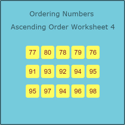 Ordering Numbers Ascending Order Worksheet 4 Ordering Numbers Ascending Order Worksheet 4