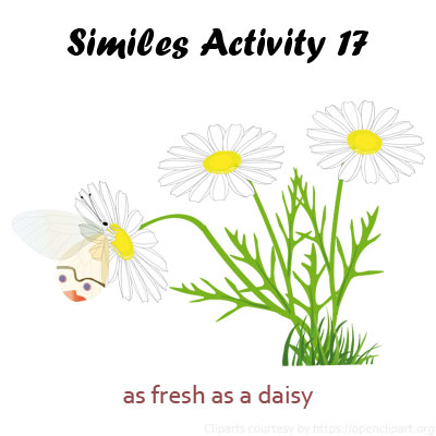Examples Of Similes For Kids Activity 17 List Of Similes