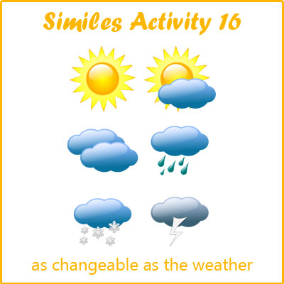 Similes Activity 16