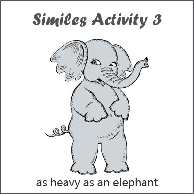 Similes Activity 3 List Of Similes Examples Of Similes For Kids