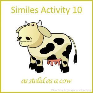 Similes Activity 10 Similes Activity 10