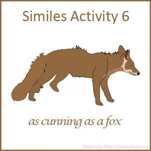 Similes Activity 6 Similes Activity 6