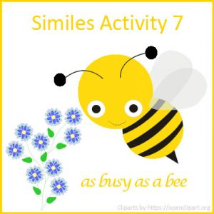 Similes Activity 7 Similes Activity 7