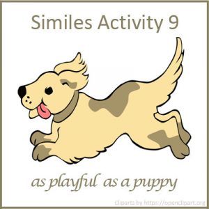 Similes Activity 9 Similes Activity 9