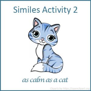 Similes Activity 2 Similes Activity 2