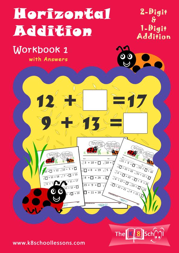 Horizontal Addition Workbook 1 | Downloadable Math Workbooks