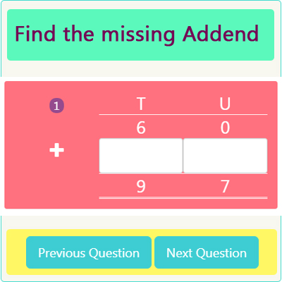 Addition Missing Addend Worksheet 1 Addition Missing Addend Worksheet 1