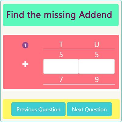 Addition Missing Addend Worksheet 2 Addition Missing Addend Worksheet 2
