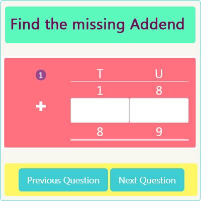 Addition Missing Addend Worksheet 3 Addition Missing Addend Worksheet 3