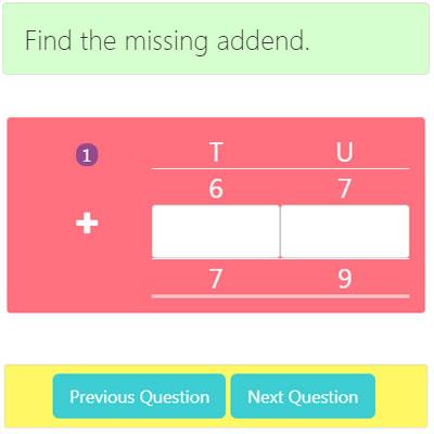 Missing Addend Addition Worksheet 1 Missing Addend Addition Worksheet 1