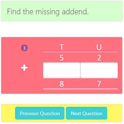 Missing Addend Addition Worksheet 2 Missing Addend Addition Worksheet 2