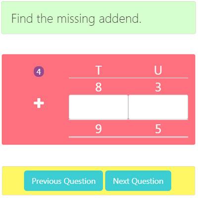 Missing Addend Addition Worksheet 4 Missing Addend Addition Worksheet 4