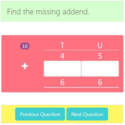 Missing Addend Addition Worksheet 5 Missing Addend Addition Worksheet 5