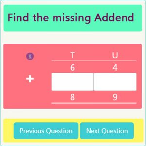 Key Stage One Missing Addend Worksheet 1
