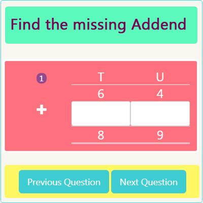 Missing Addend Worksheet 1 Missing Addend Worksheet 1