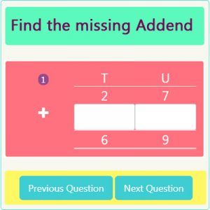 Key Stage One Missing Addend Worksheet 2