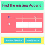 Missing Addend Worksheet 4 Missing Addend Worksheet 4