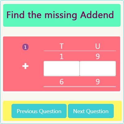 Missing Addend Worksheet 4 Missing Addend Worksheet 4