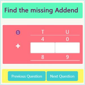 Key Stage One Missing Addend Worksheet 5