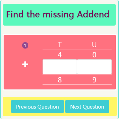 Missing Addend Worksheet 5 Missing Addend Worksheet 5