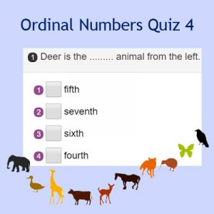 Ordinal Numbers Quiz 4 Ordinal Numbers Quiz 4
