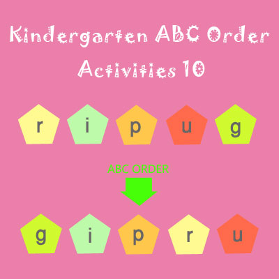 Kindergarten ABC Order Activities 10