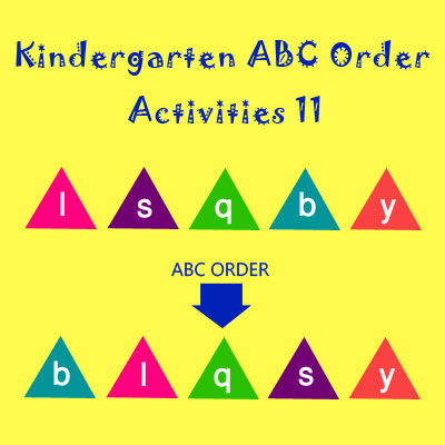 Kindergarten ABC Order Activities 11 Kindergarten ABC Order Activities 11