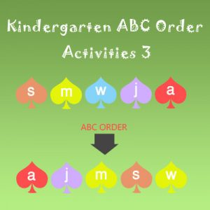 Kindergarten ABC Order Activities 3 Kindergarten ABC Order Activities 3