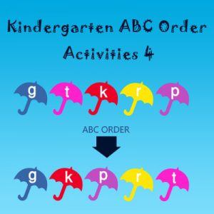 Kindergarten ABC Order Activities 4