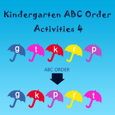 Kindergarten ABC Order Activities 4 Kindergarten ABC Order Activities 4