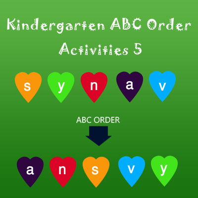 Kindergarten ABC Order Activities 5