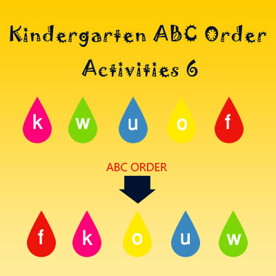 Kindergarten ABC Order Activities 6 Kindergarten ABC Order Activities 6