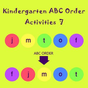 Kindergarten ABC Order Activities 7 Kindergarten ABC Order Activities 7