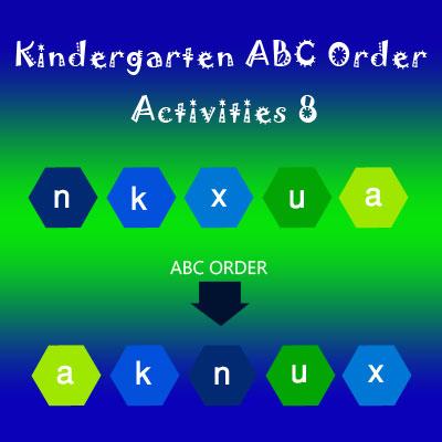Kindergarten ABC Order Activities 8 Kindergarten ABC Order Activities 8